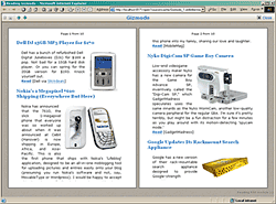 Click to see a sample of Reading RSS module